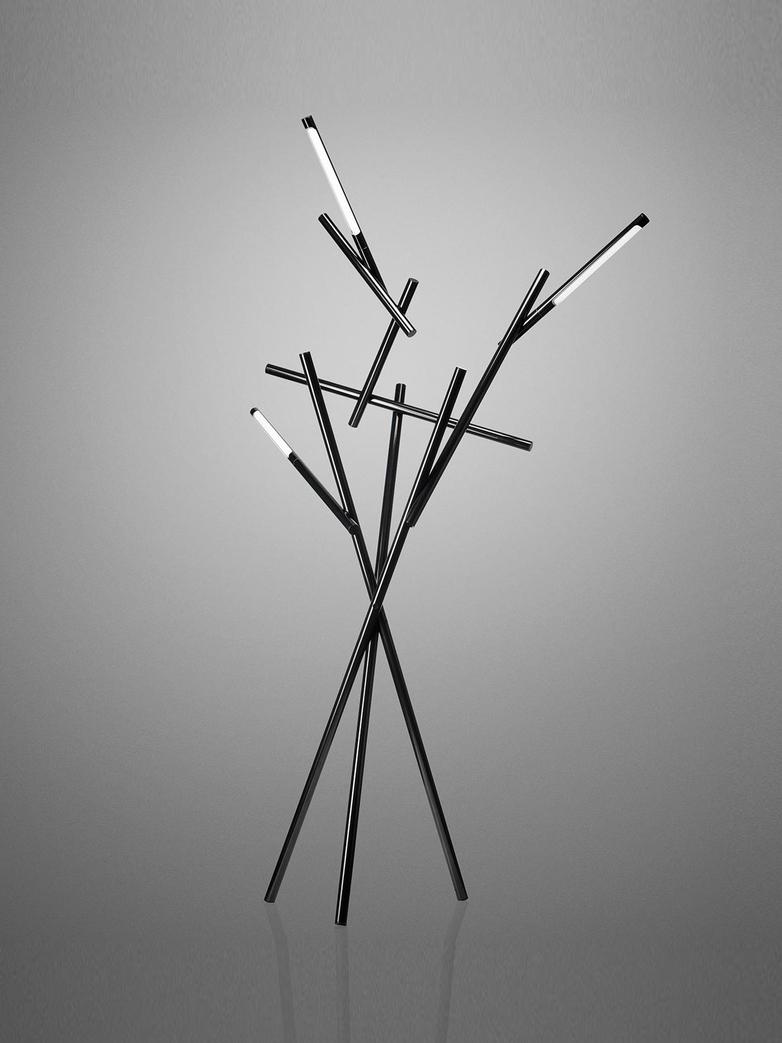 Tuareg Floor Lamp - Black Chrome
