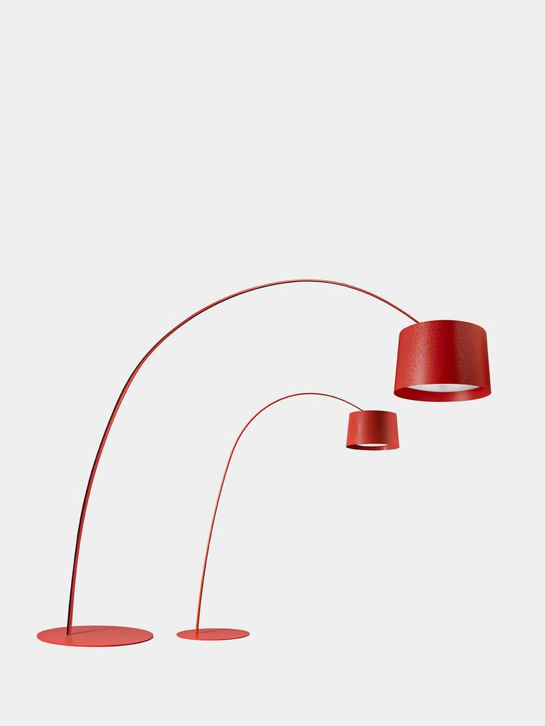 Twice as Twiggy Floor Lamp - Deep Red