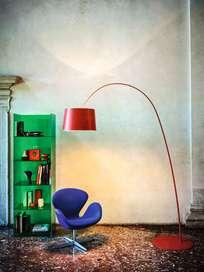 Twiggy Floor Lamp - Deep Red