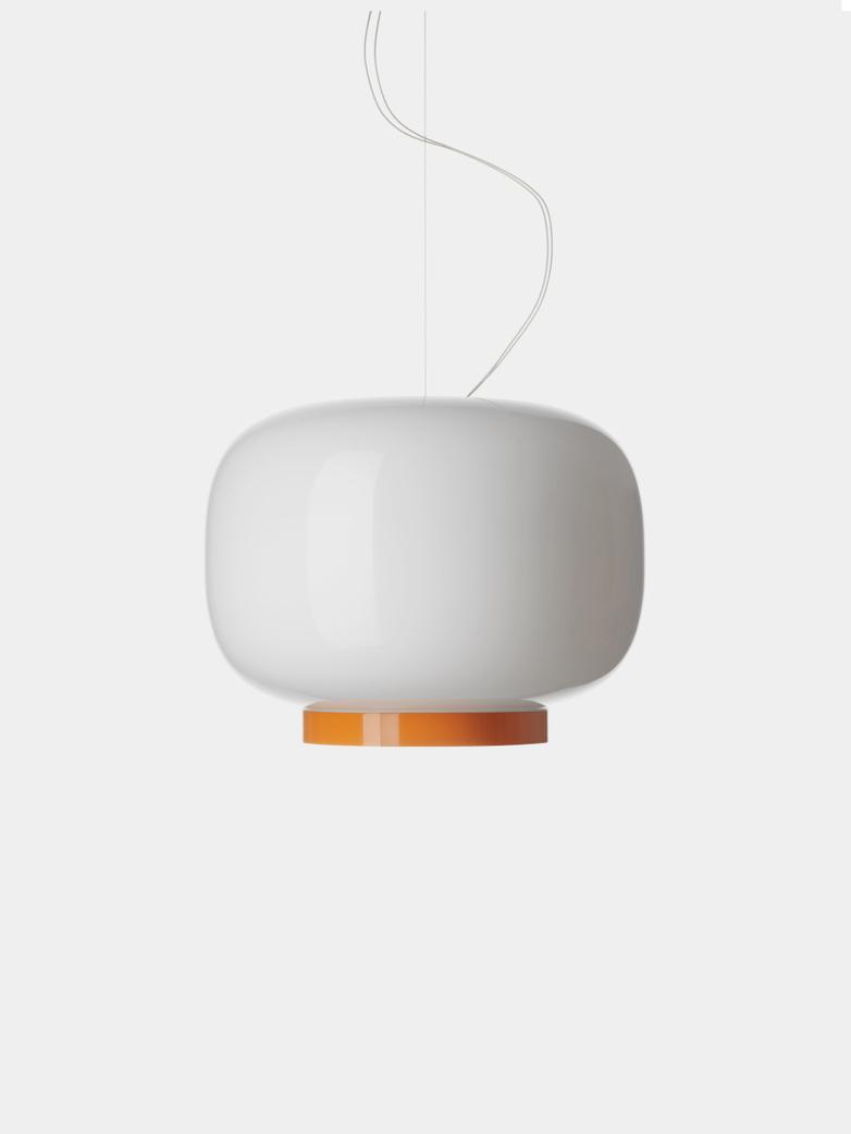 Chouchin 3 Reverse LED Pendant - White/Orange