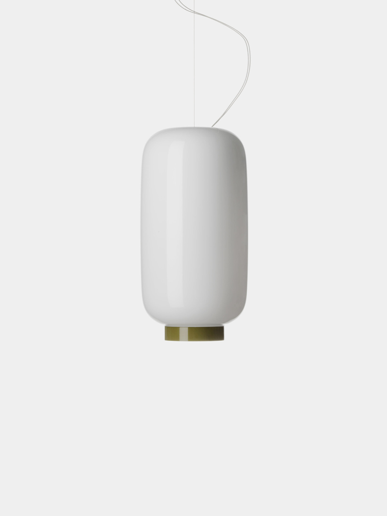 Chouchin 2 Reverse LED Pendant - White/Green