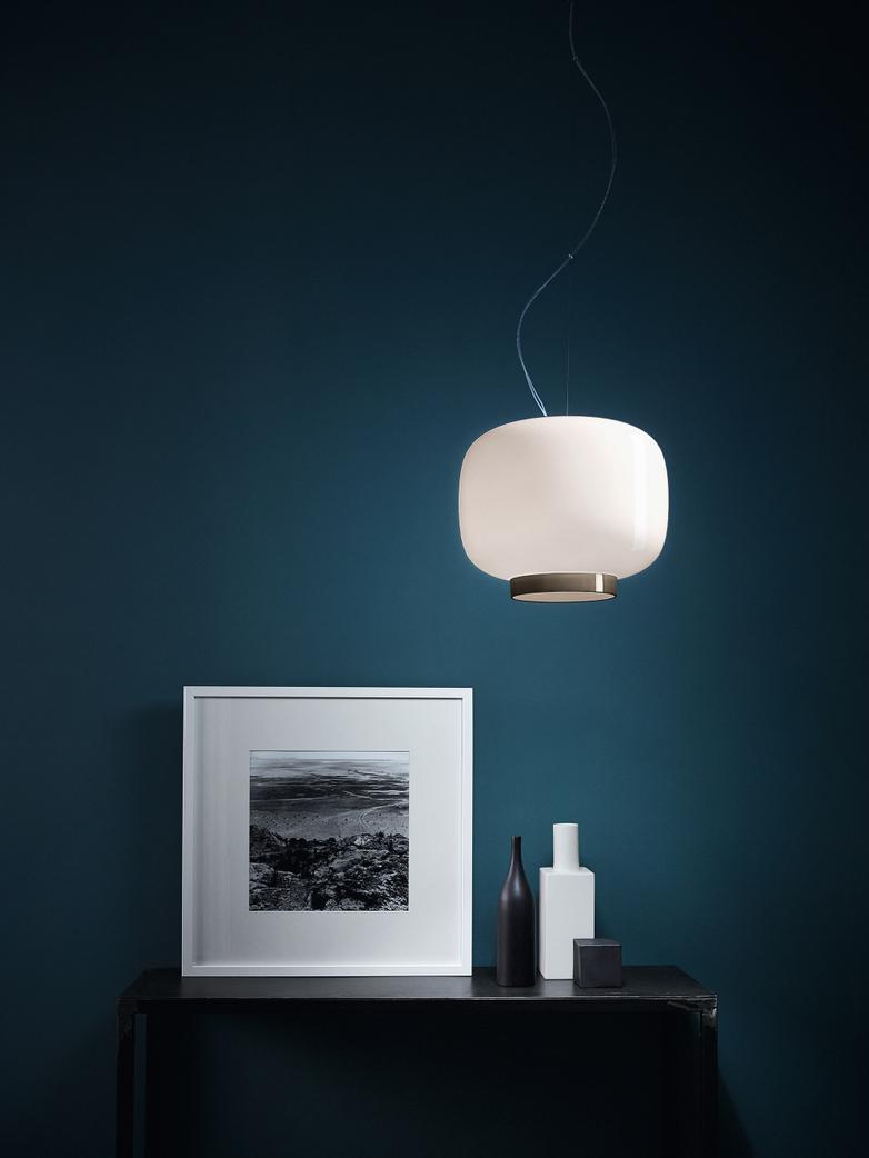 Chouchin 3 Reverse LED Pendant - White/Grey