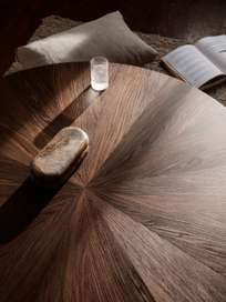 Post Coffee Table Large - Smoked Oak Star