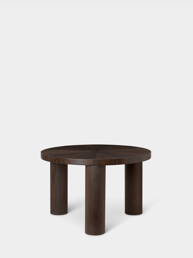 Post Coffee Table Small - Smoked Oak Star