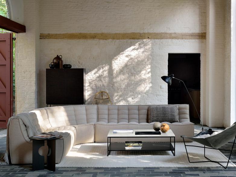 N701 Sofa - Round Corner - Beige