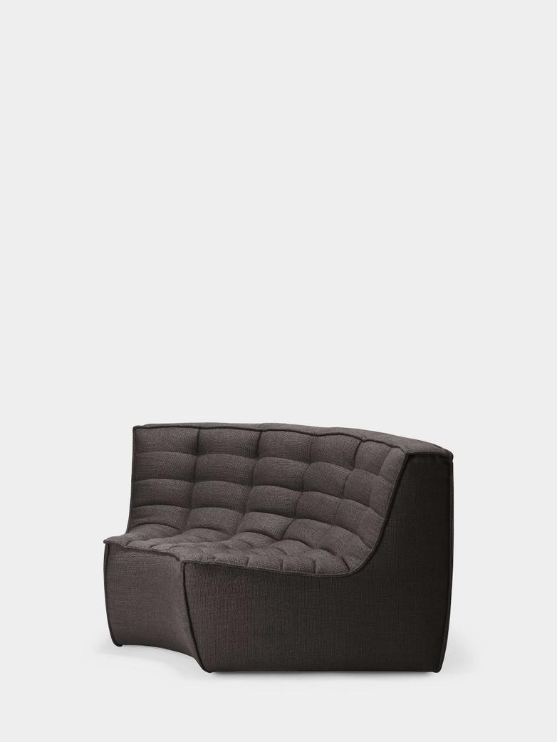 N701 Sofa - Round Corner - Dark Grey