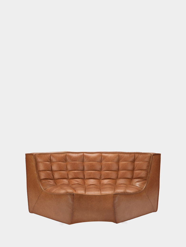N701 Sofa - Round Corner - Old Saddle