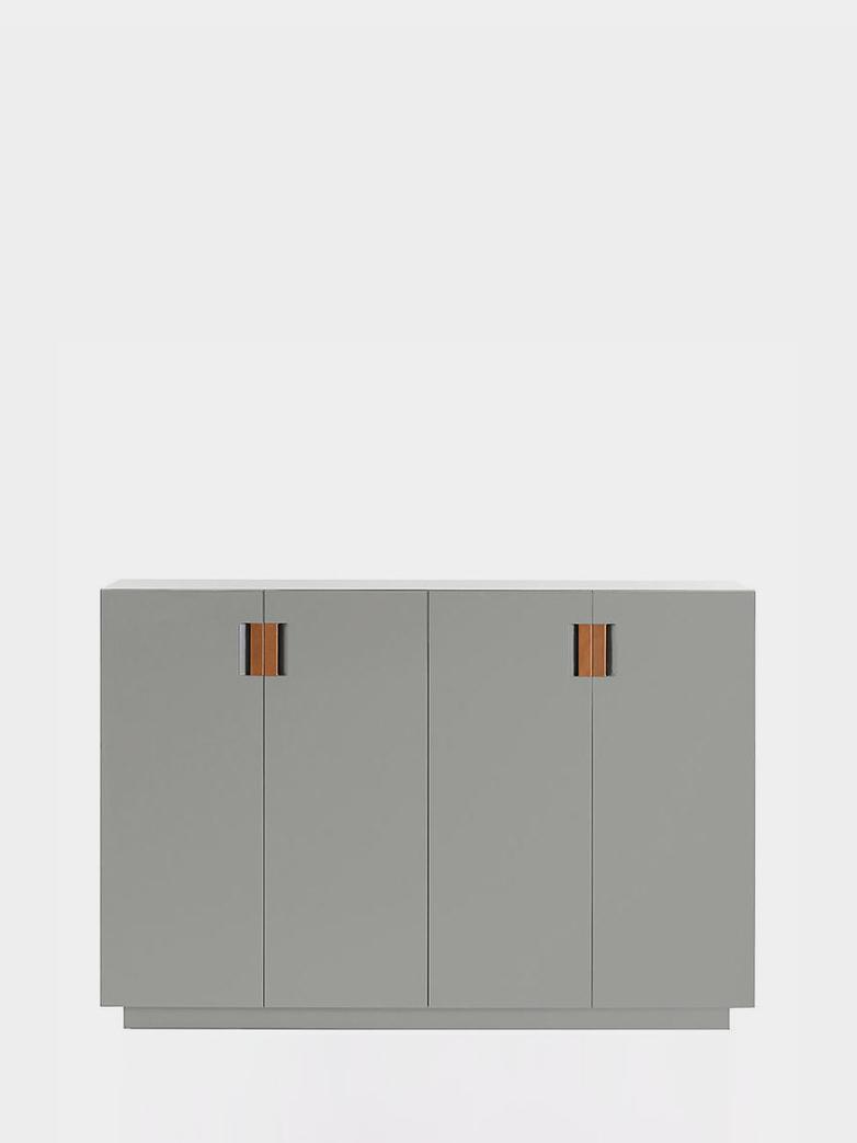 Frame 160 High – Light Grey - Cognac Leather