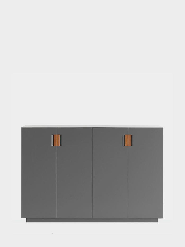 Frame 160 High – Storm Grey - Cognac Leather