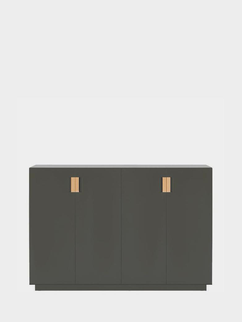 Frame 160 High – Green Khaki - Natural Leather