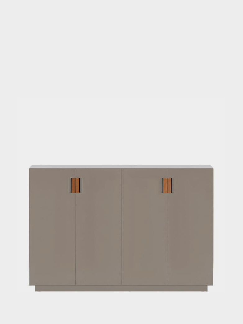 Frame 160 High – Dark Sand - Cognac Leather