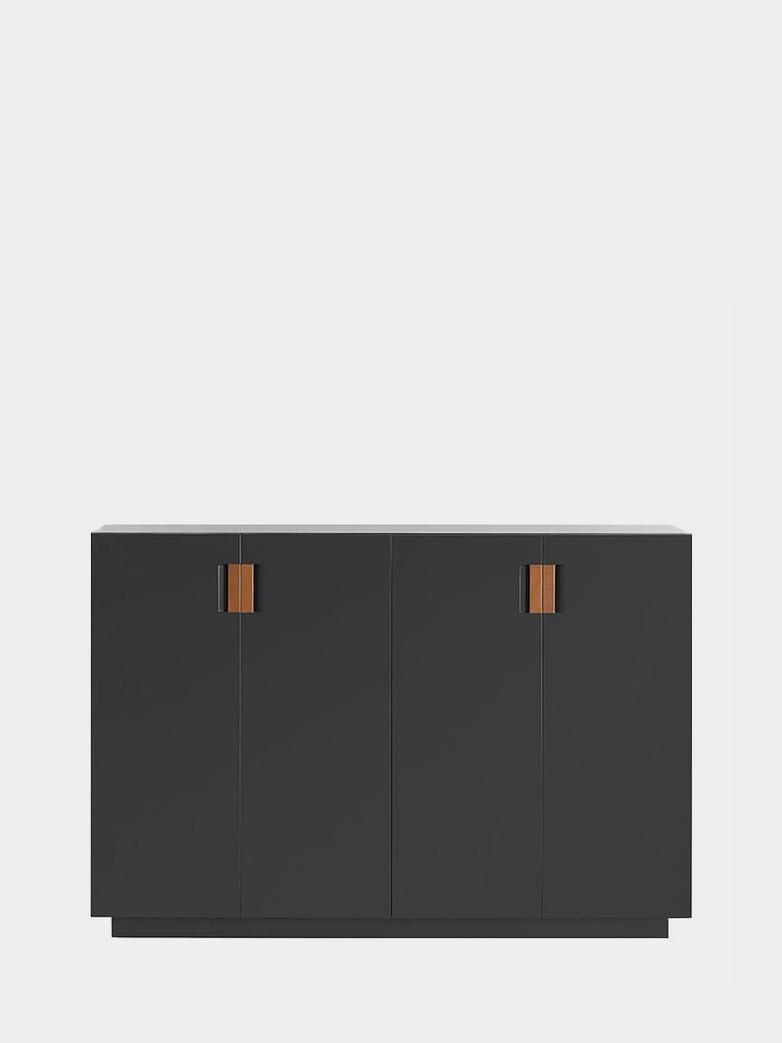 Frame 160 High – Char Grey - Cognac Leather