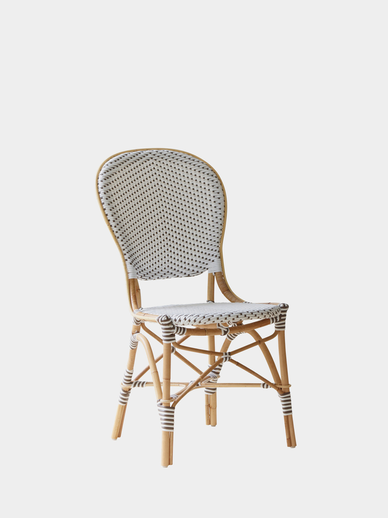 Isabell Exterior Chair - White/Cappuchino