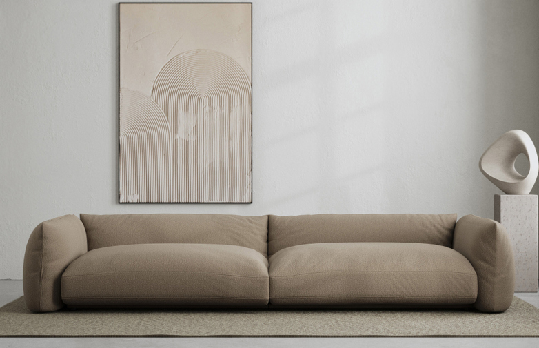 LA Sofa - Bouclé Warm Clay - 290 cm