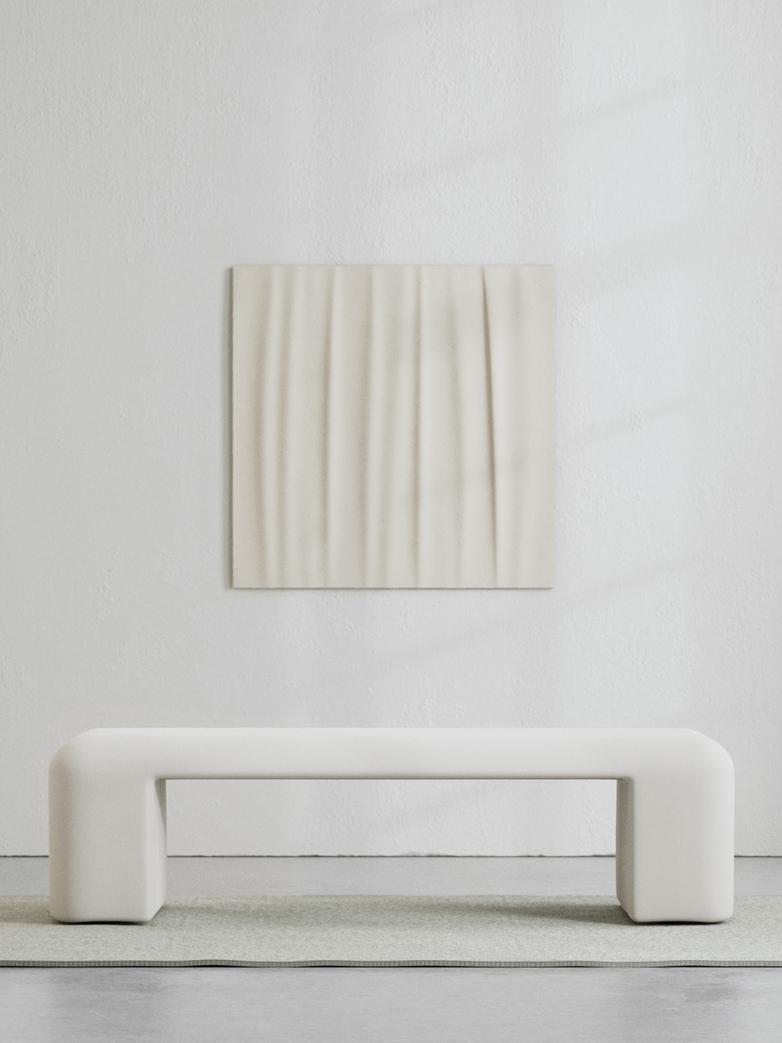 LA Bench - Bone White - 160 cm