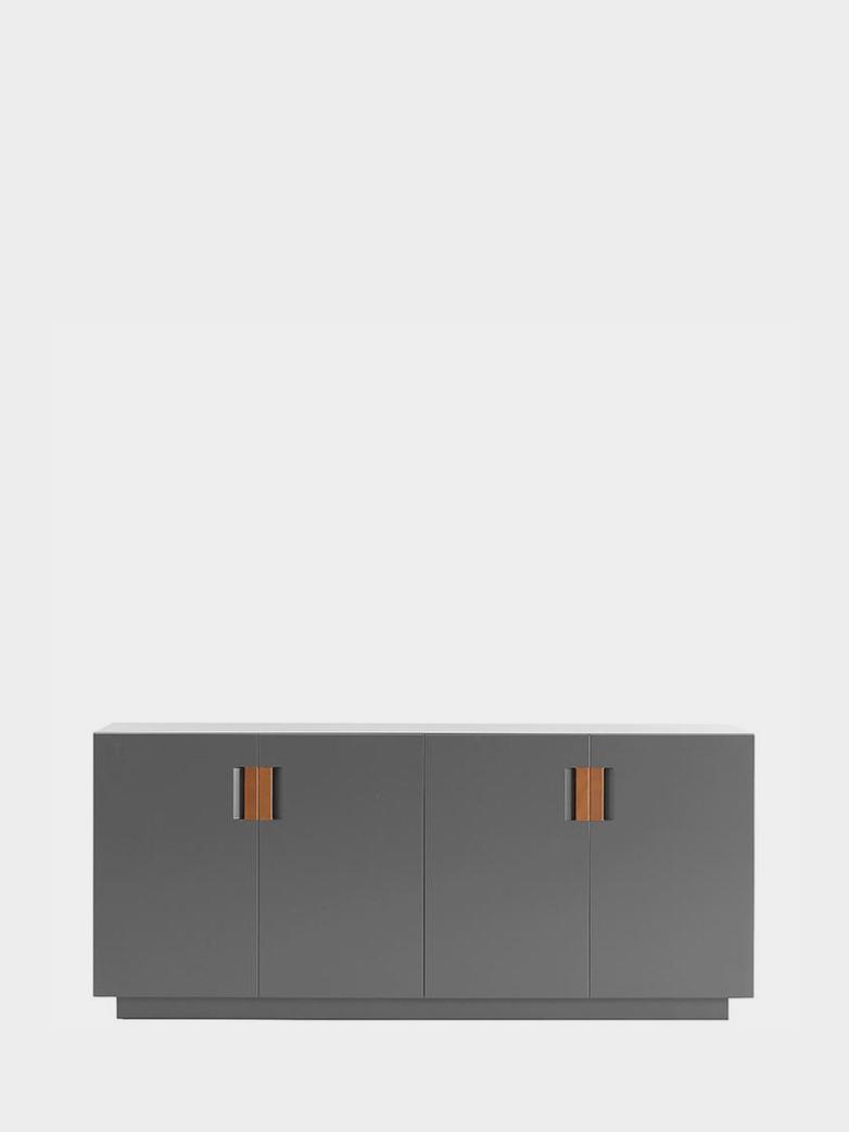 Frame 160 Low – Storm Grey - Cognac Leather