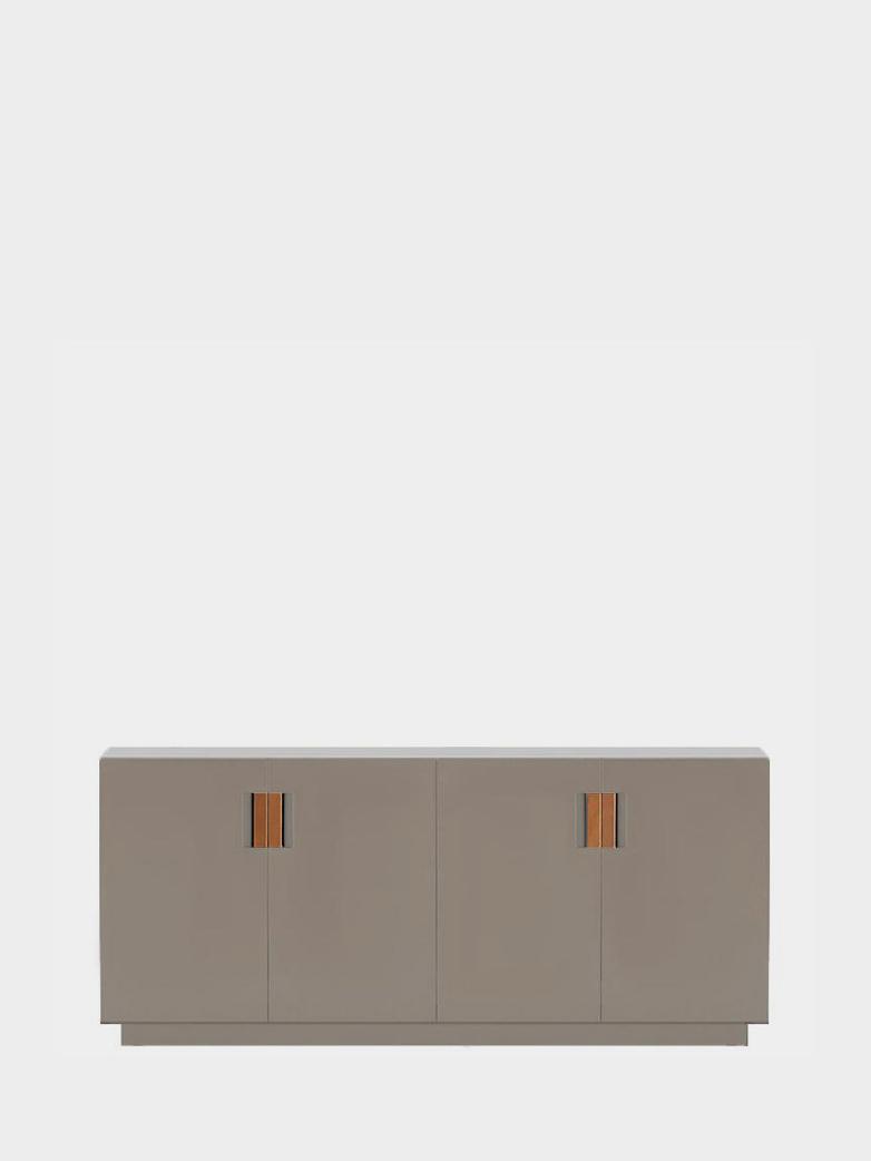 Frame 160 Low – Dark Sand - Cognac Leather