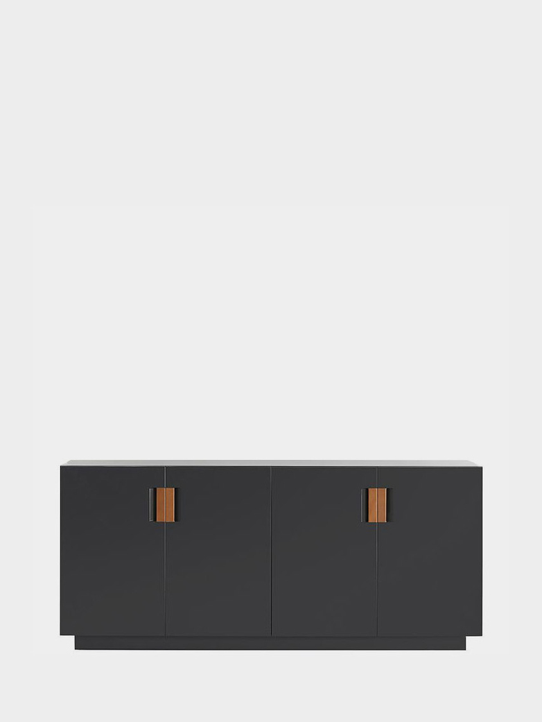 Frame 160 Low – Char Grey - Cognac Leather