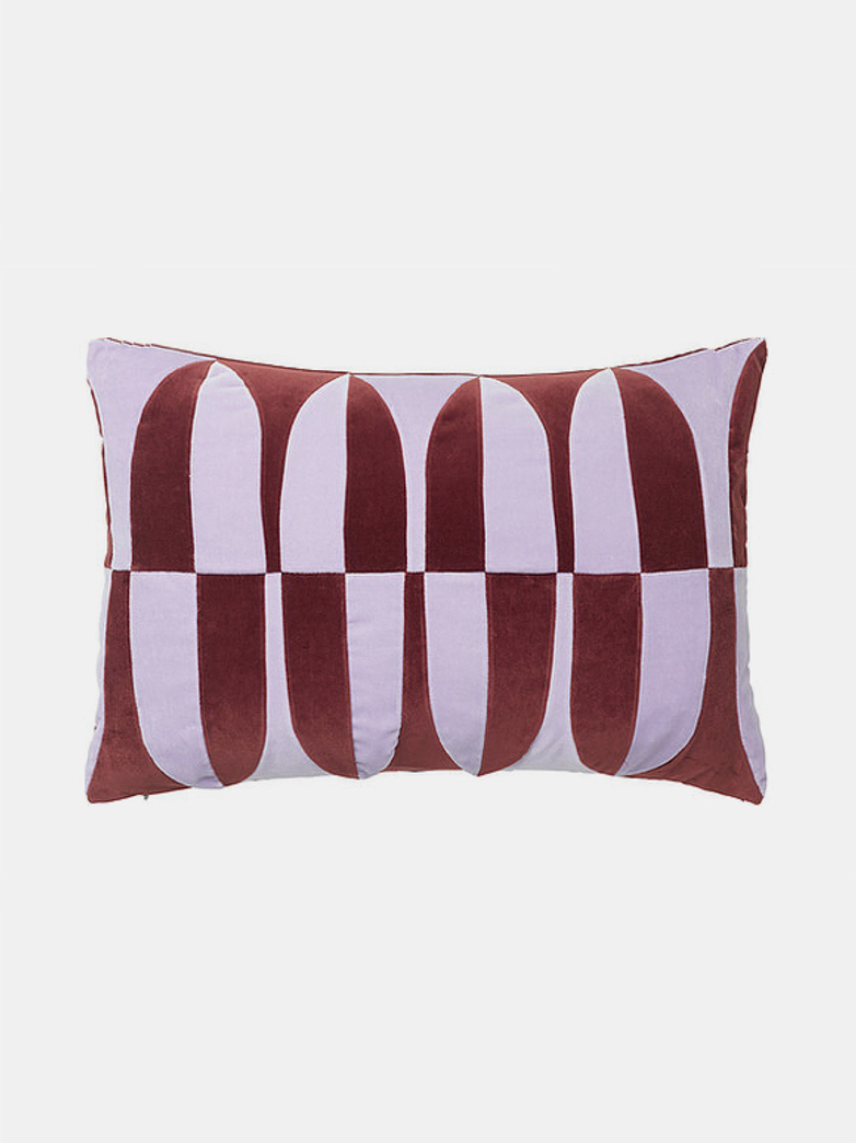 Abigail Cushion 40x60 cm - Wine - Lavender