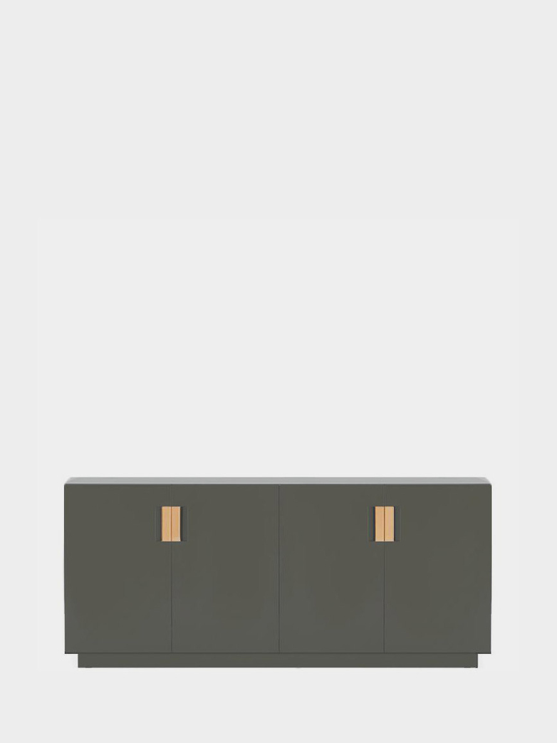 Frame 160 Low – Khaki Green - Natural Leather