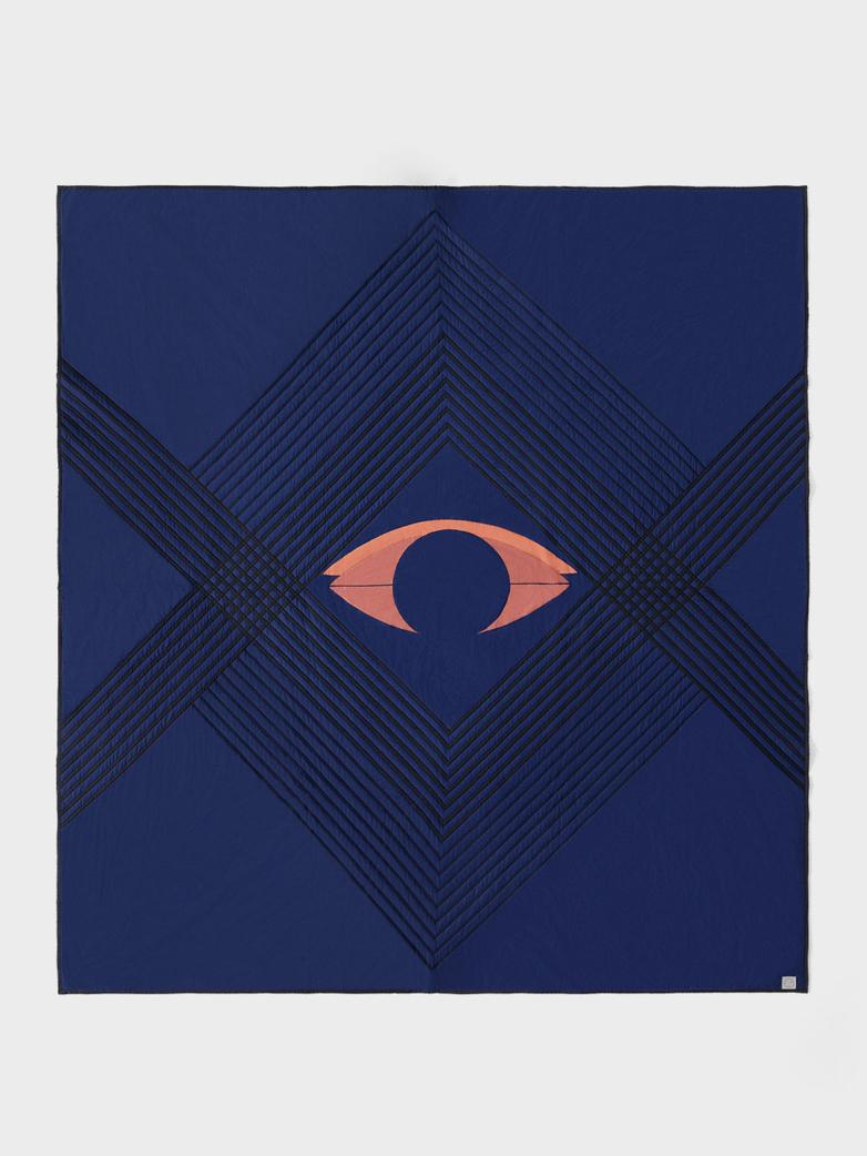 The Eye Bedspread 240 x 260 - Blue Midnight