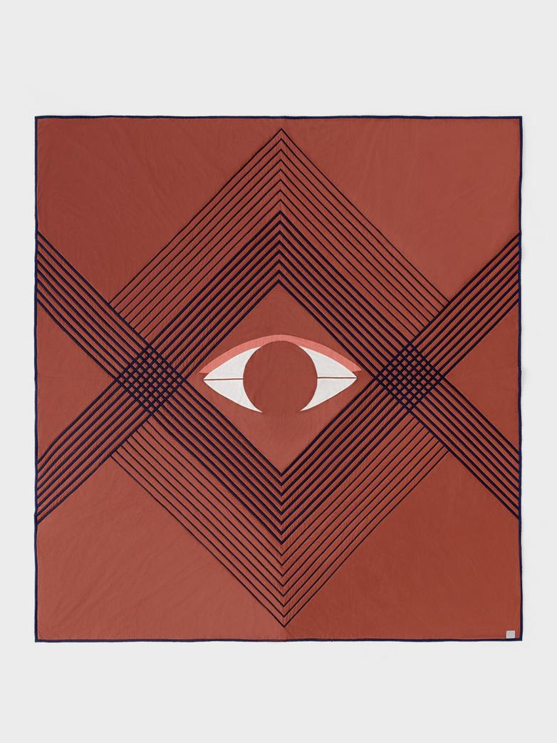 The Eye Bedspread 240 x 260 - Brown Earth