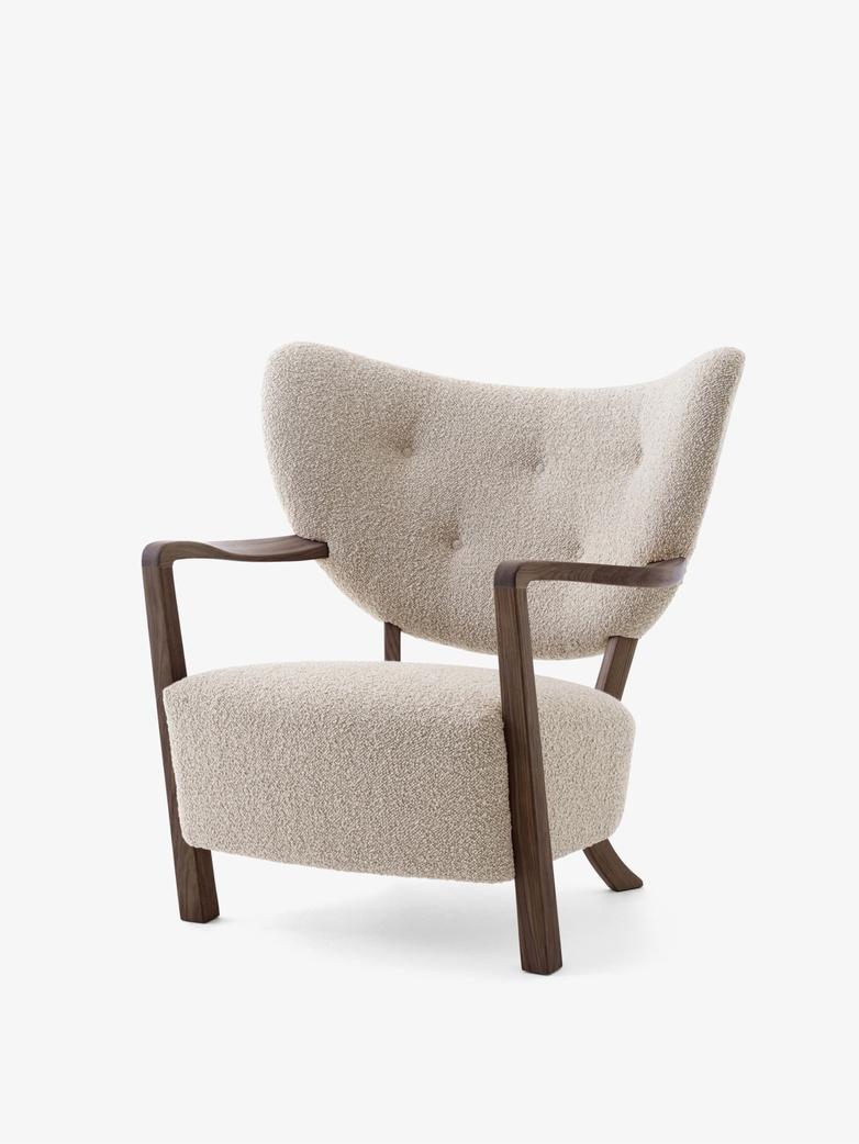Wulff Lounge Chair - Karakorum 003 - Walnut