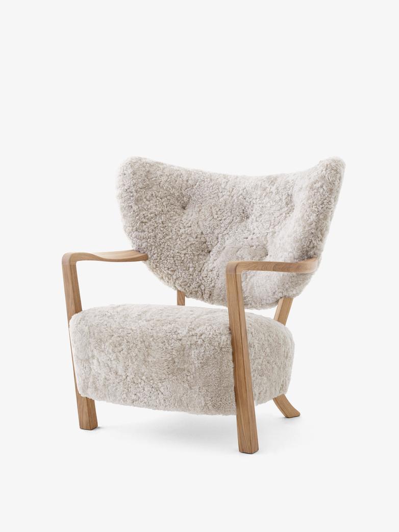 Wulff Lounge Chair - Sheepskin Moonlight 17mm - Oak