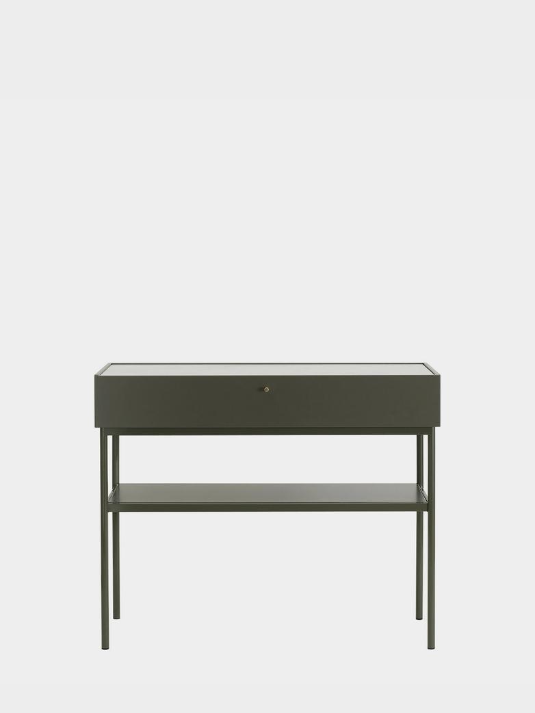 LUC Console 100 - Green Khaki - Carrara Marble