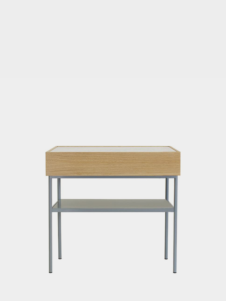 LUC Console 100 Natural Stained Oak - Nordic Blue - Limestone