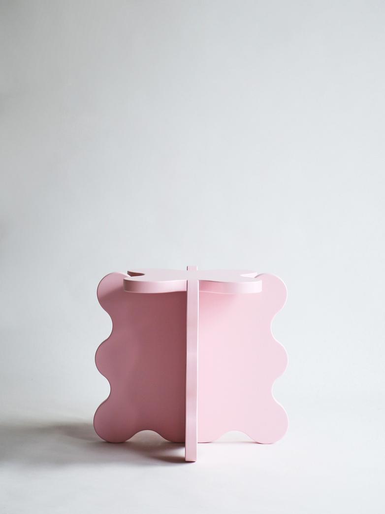 Curvy Table Mini - Pink
