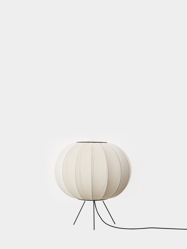 Knit-Wit Floor Lamp Low 45 cm - Pearl White