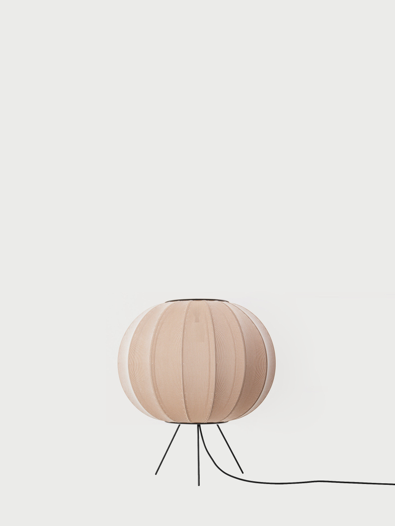 Knit-Wit Floor Lamp Low 45 cm - Sand Stone