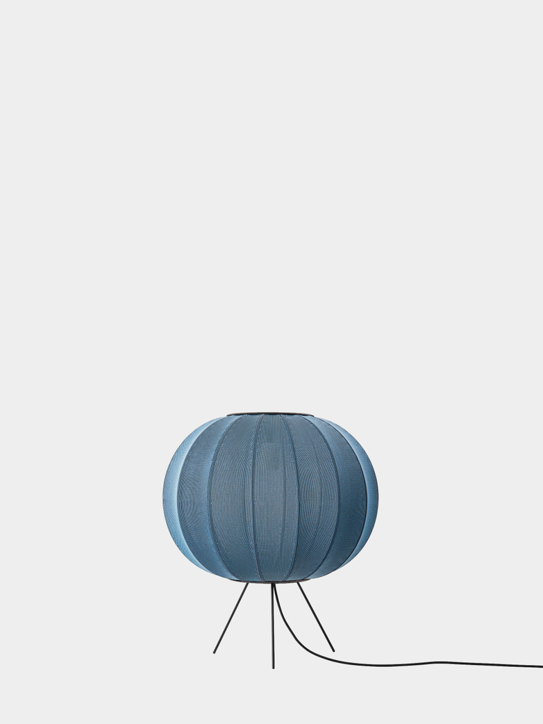 Knit-Wit Floor Lamp Low 45 cm - Blue Stone