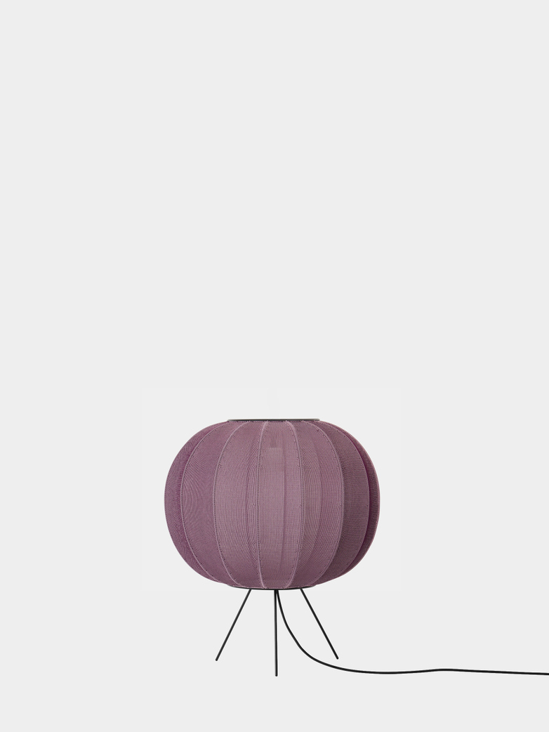 Knit-Wit Floor Lamp Low 45 cm - Burgundy