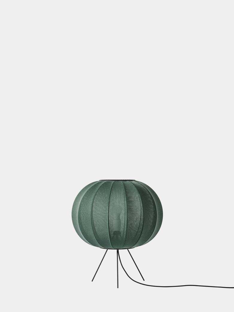 Knit-Wit Floor Lamp Low 45 cm - Tweed Green