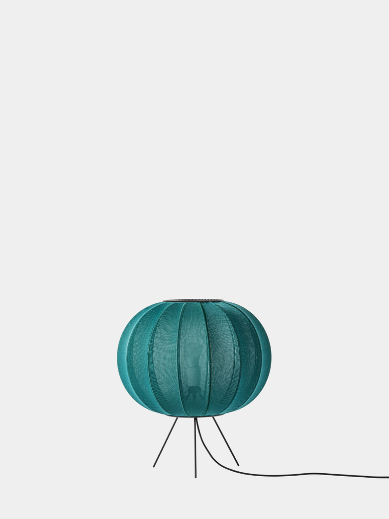 Knit-Wit Floor Lamp Low 45 cm - Seagrass