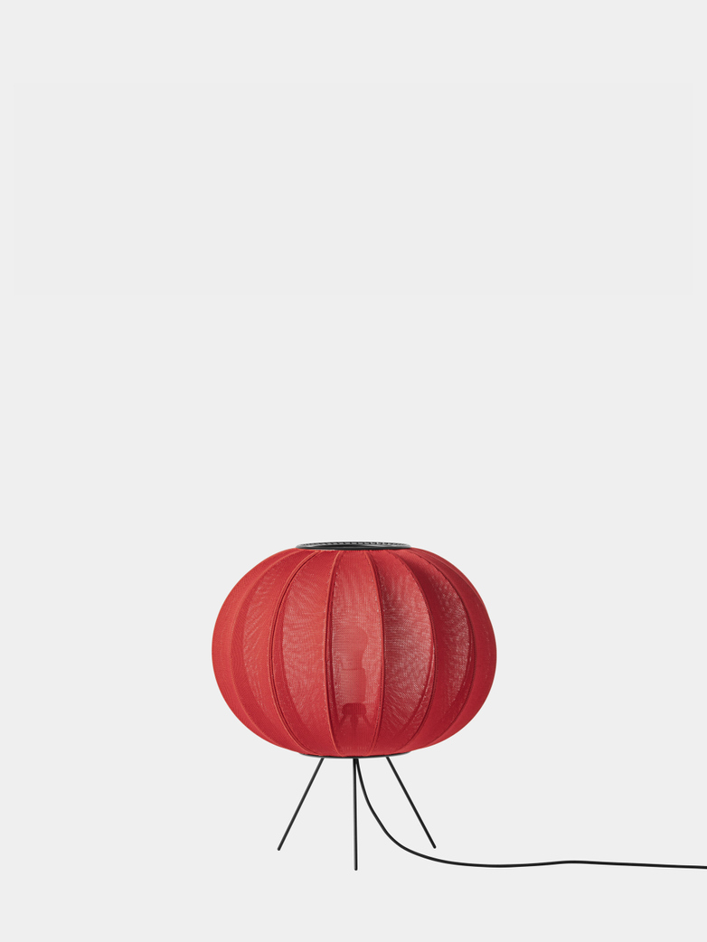 Knit-Wit Floor Lamp Low 45 cm - Maple Red