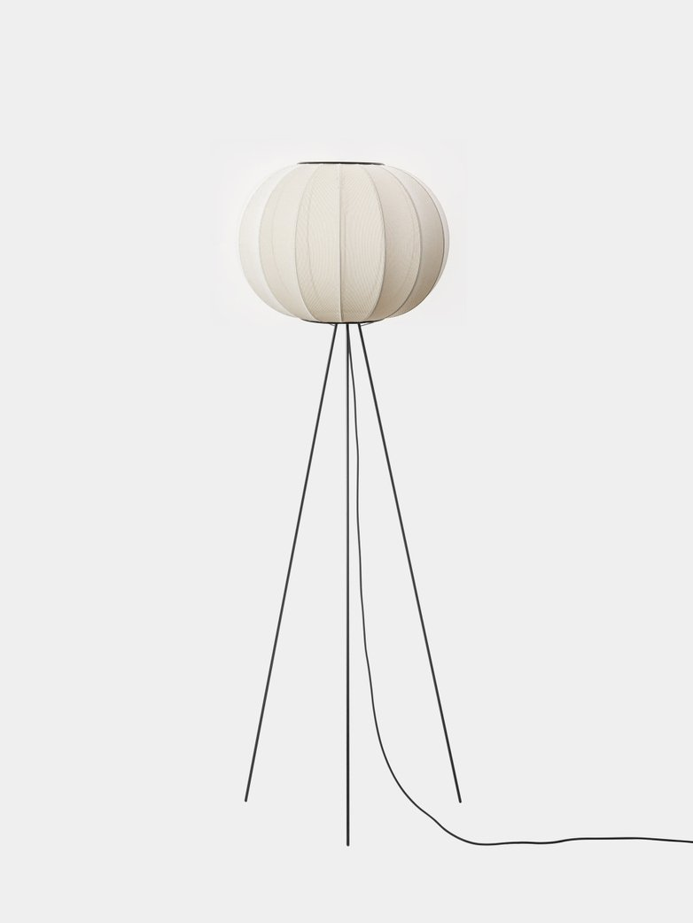 Knit-Wit Floor Lamp High 45 cm - Pearl White