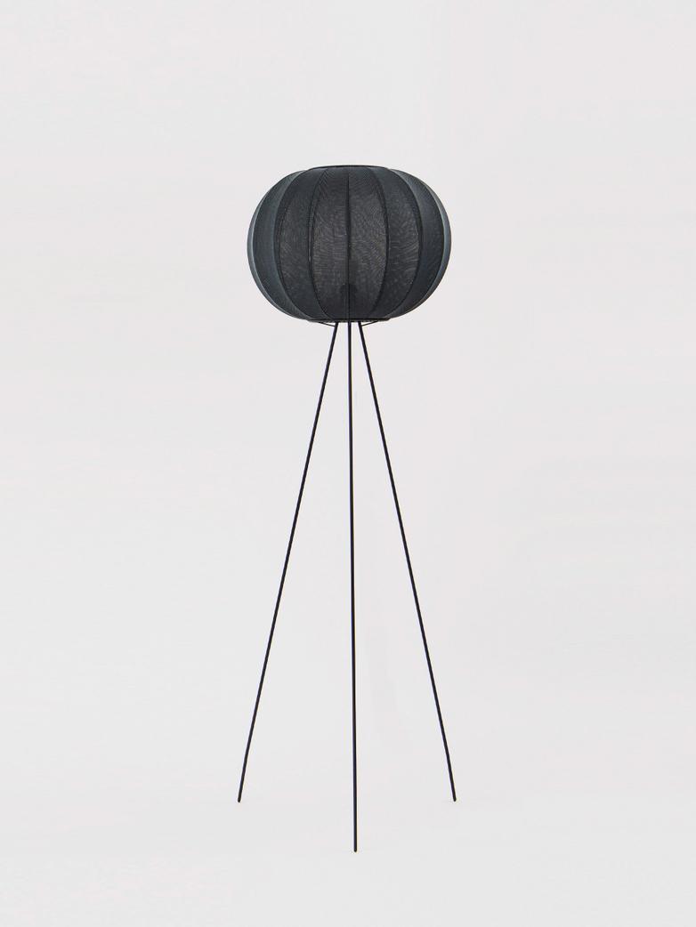 Knit-Wit Round Floor Lamp High 45 - Black