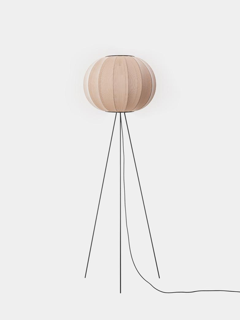 Knit-Wit Round Floor Lamp High 45 - Sand Stone