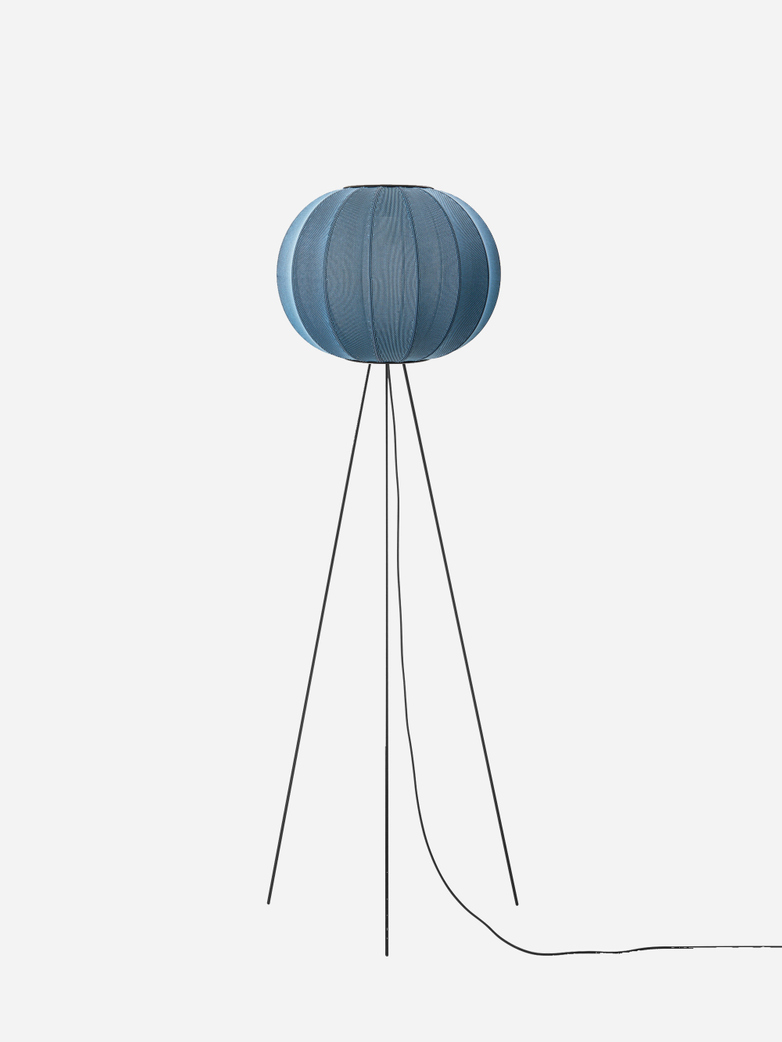 Knit-Wit Round Floor Lamp High 45 - Blue Stone