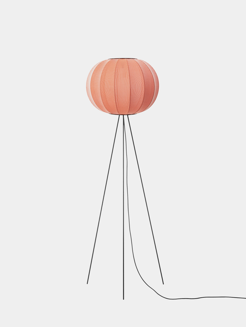 Knit-Wit Round Floor Lamp High 45 - Coral