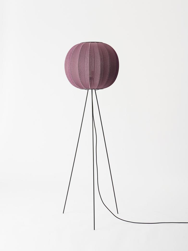 Knit-Wit Round Floor Lamp High 45 - Burgundy
