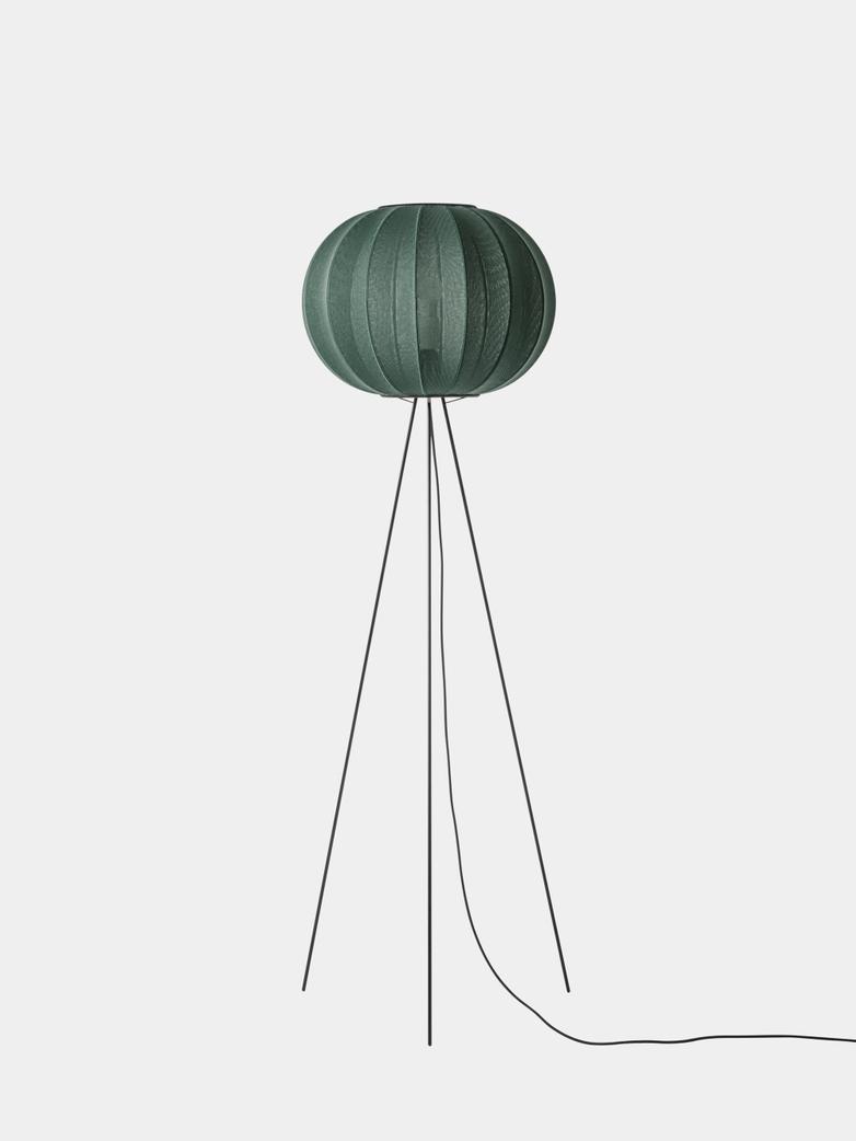Knit-Wit Round Floor Lamp High 45 - Tweed Green