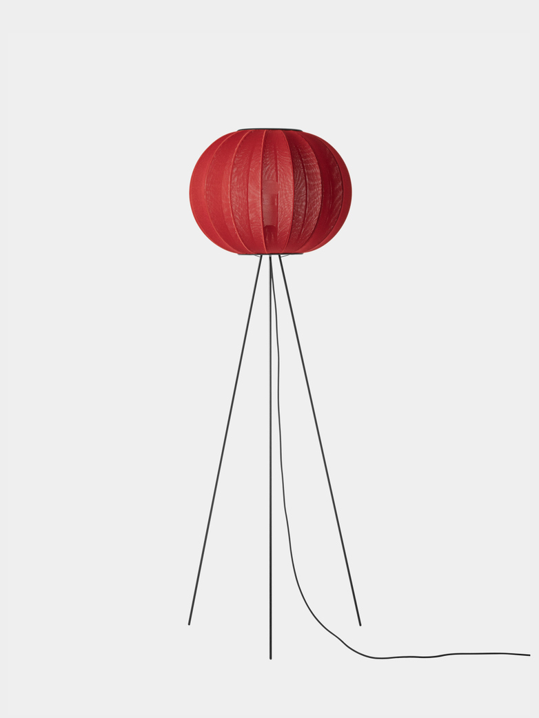 Knit-Wit Round Floor Lamp High 45 - Maple Red