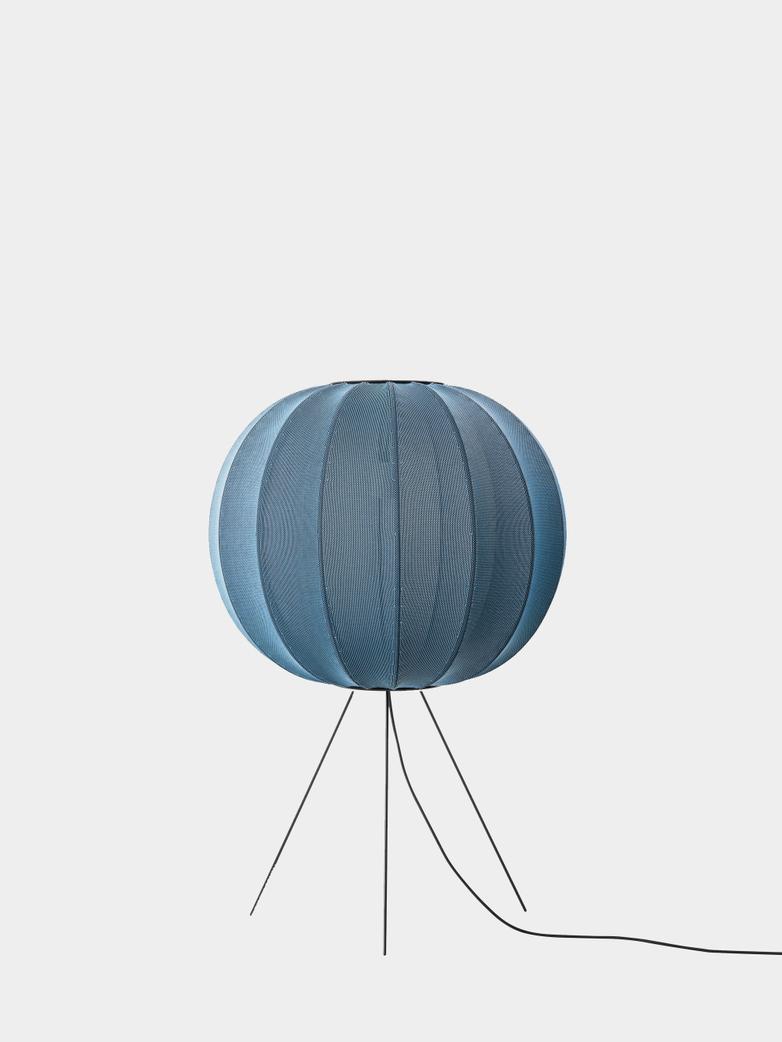 Knit-Wit Floor Lamp Medium 60  cm - Blue Stone
