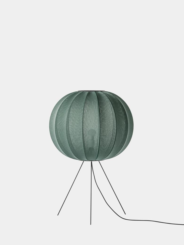 Knit-Wit Floor Lamp Medium 60  cm - Tweed Green