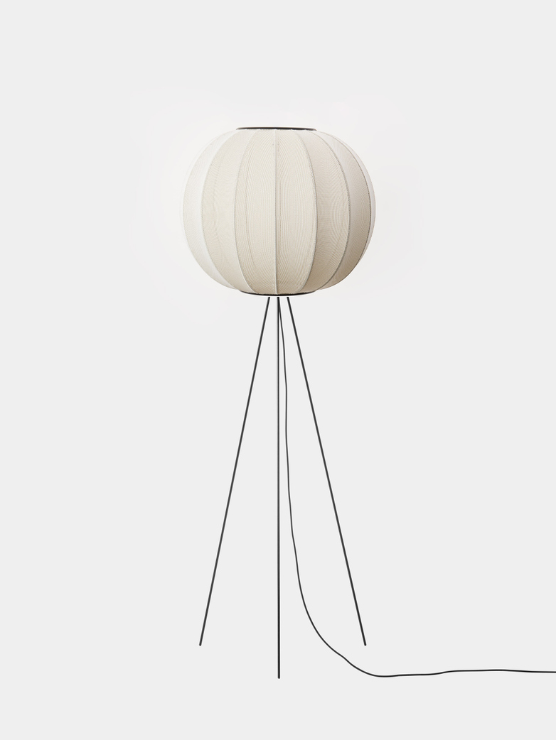 Knit-Wit Floor Lamp High 60 cm - Pearl White