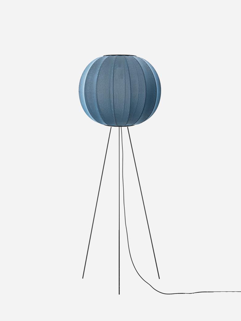 Knit-Wit Floor Lamp High 60 cm - Blue Stone